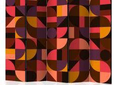 Paraván - Geometric Mosaic (Red) II [Room Dividers]